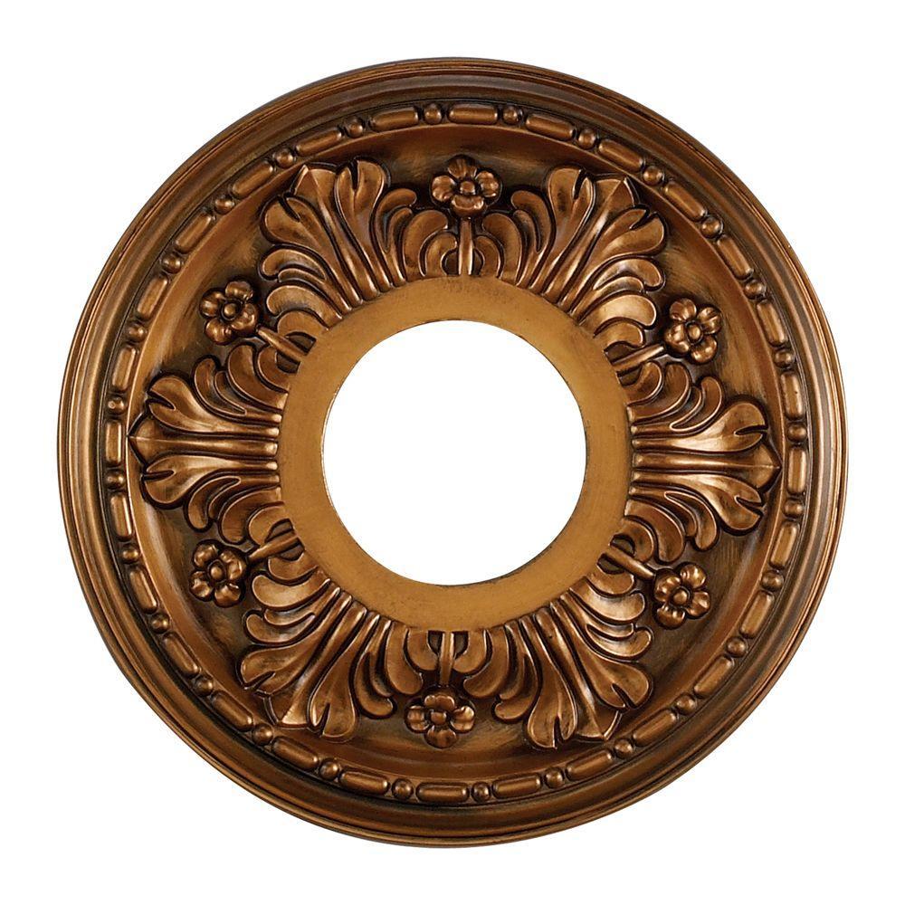 Acanthus 11 in. Antique Bronze Ceiling Medallion