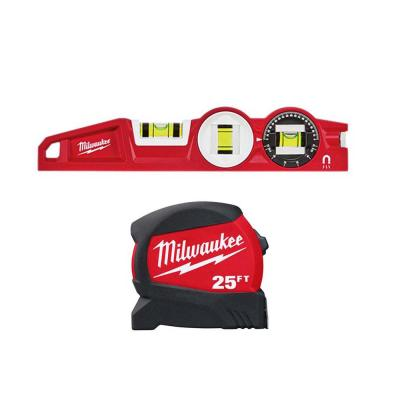 25 ft. x 1.2 in. Compact Wide Blade Tape Measure with 12 ft. Standout and Torpedo Level