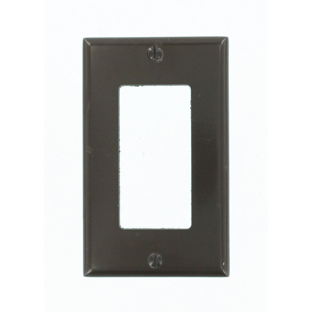 1-Gang Decora Wall Plate, Brown