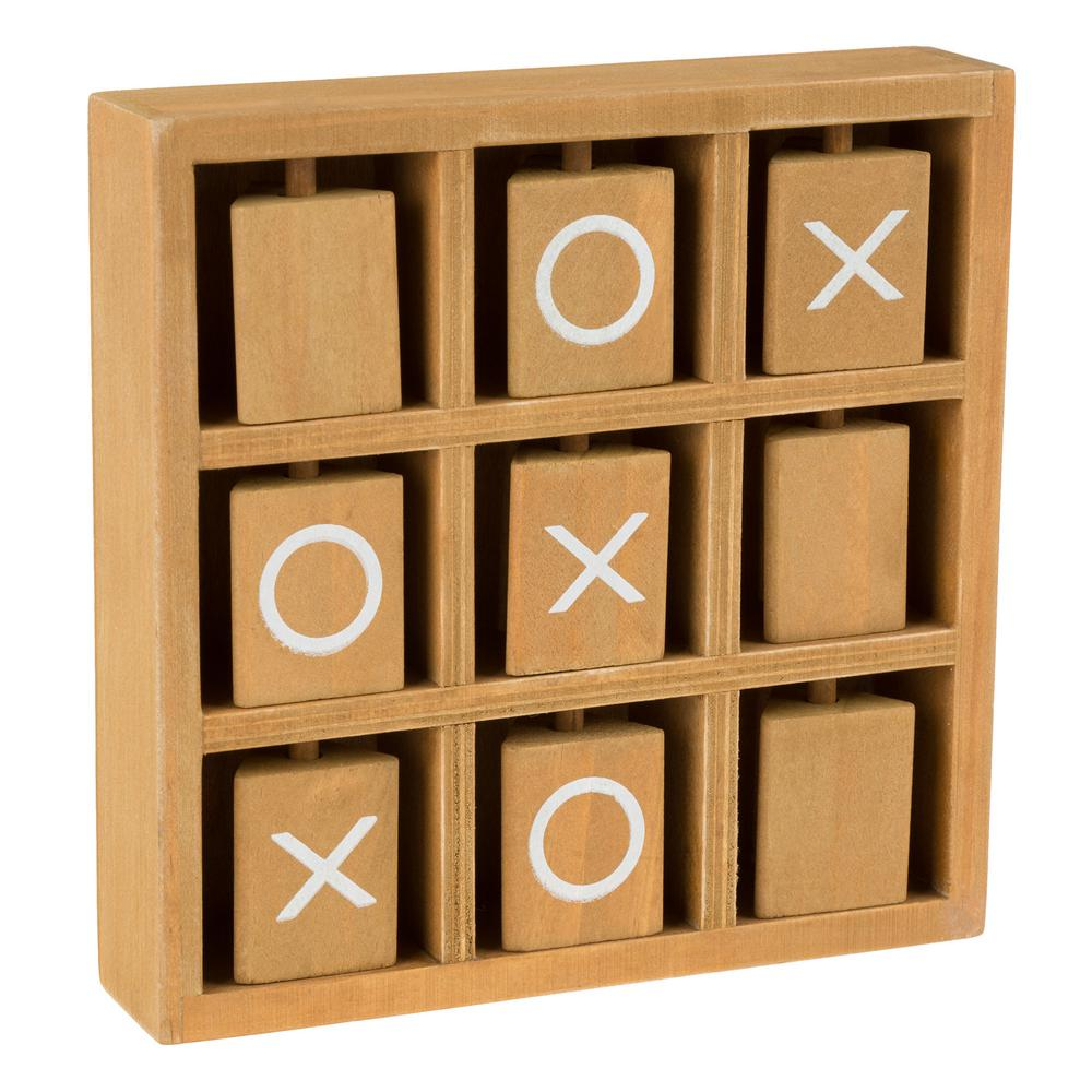 Hey Play Tic Tac Toe Wooden Travel Game M350046 The Home Depot