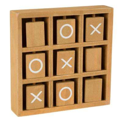 Tic-Tac-Toe Wooden Travel Game