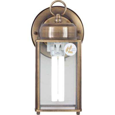 1-Light Antique Solid Brass Outdoor Wall Mount