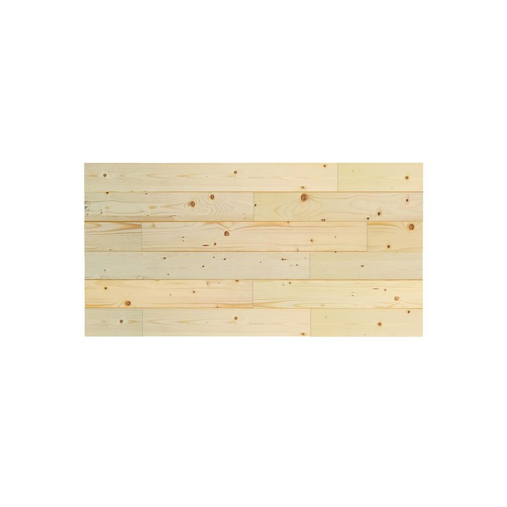 Pacific Entries 1 in. x 48 in. x 24 in. Unfinished Pine Wood Express Wall Accent Panel (4-pack)