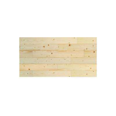 1 in. x 48 in. x 24 in. Unfinished Pine Wood Express Wall Accent Panel (4-pack)