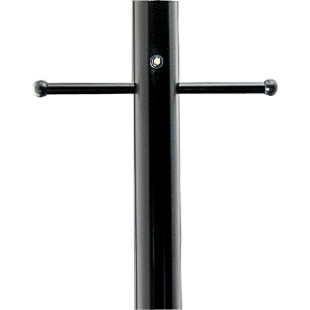Progress Lighting Black 7 ft. Exterior Lighting Post with Photocell, GCO and Ladder Rest