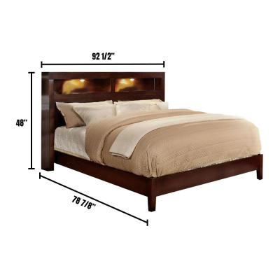 Gerico I in Brown Cherry Eastern King Platform Bed