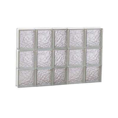 36.75 in. x 23.25 in. x 3.125 in. Ice Pattern Non-Vented Glass Block Window