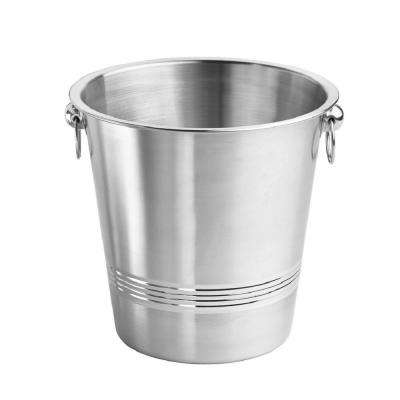 Single Wall Champagne Bucket with Ring Handles