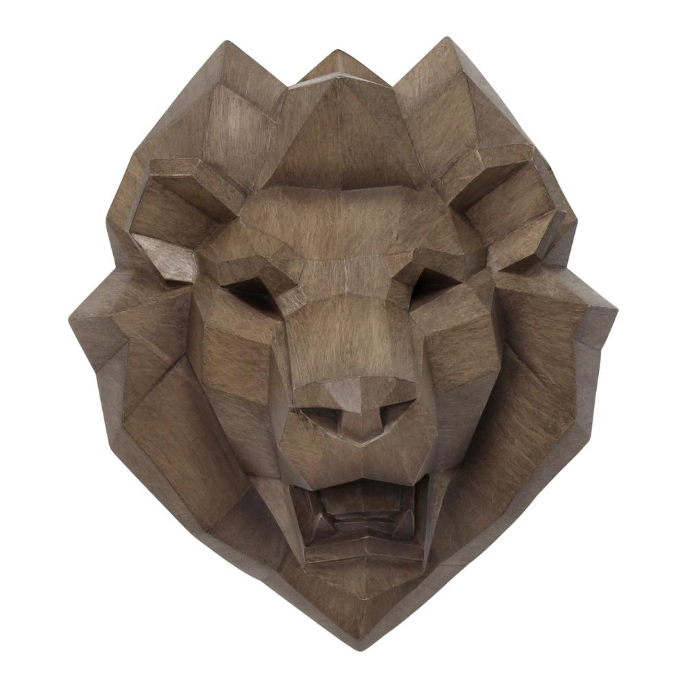 Stratton Home Decor Stratton Home Decor Faux Lion Head Wall Decor S30918 The Home Depot