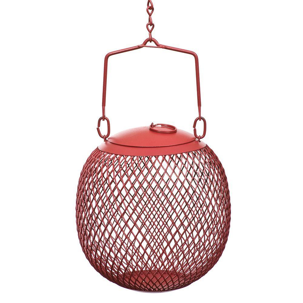 Red Seed Ball Hanging Bird Feeder - 1.2 lb. Capacity