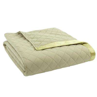 Meadow Sherpa Back Polyester Queen Blanket