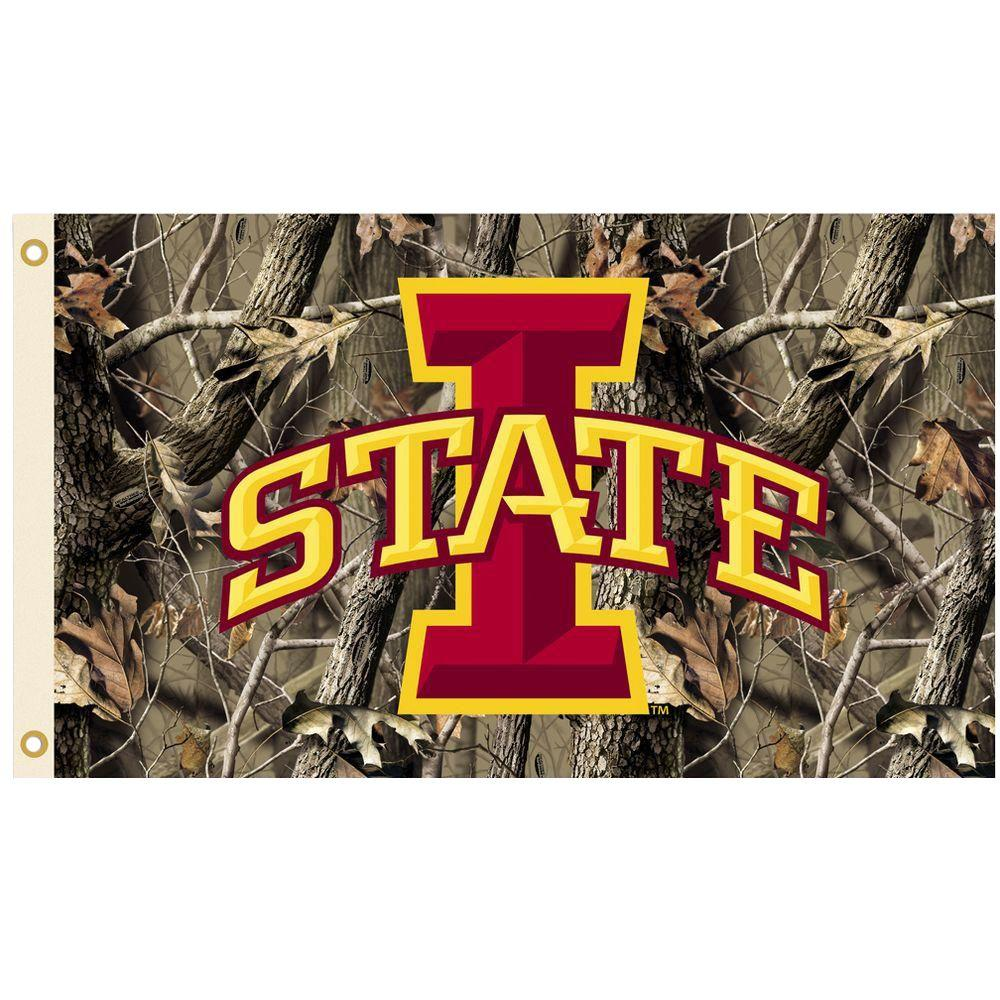 NCAA 3 ft. x 5 ft. Realtree Camo Background Iowa State