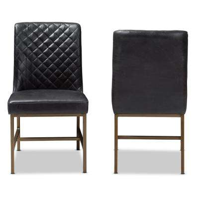 Margaux Black Faux Leather Upholstered Dining Chair (Set of2)