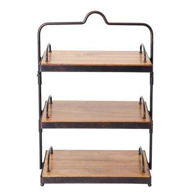 3-Tier Sierra Carbon Steel Adjustable Buffet Stand