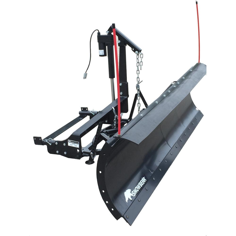 Snow Plow with Custom Mount and Actuator Lift System-324-167 - The Home  Depot