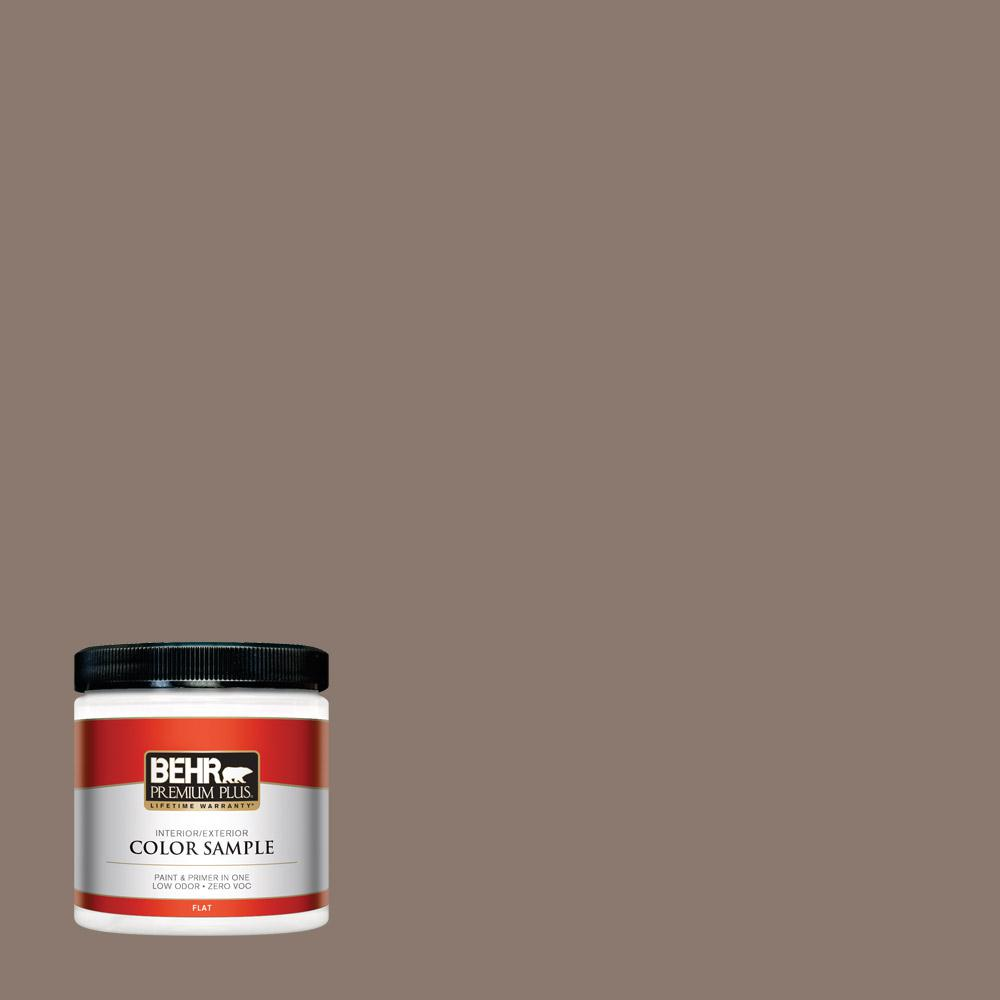 8 oz. #T18-07 Road Less Travelled Flat Interior/Exterior Paint Sample