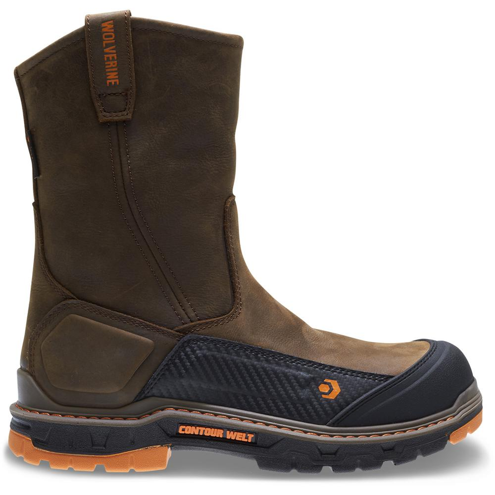 0db93a57575 Wolverine Men's Overpass Size 13EW Brown Leather Waterproof Composite Toe  10 in. Boot