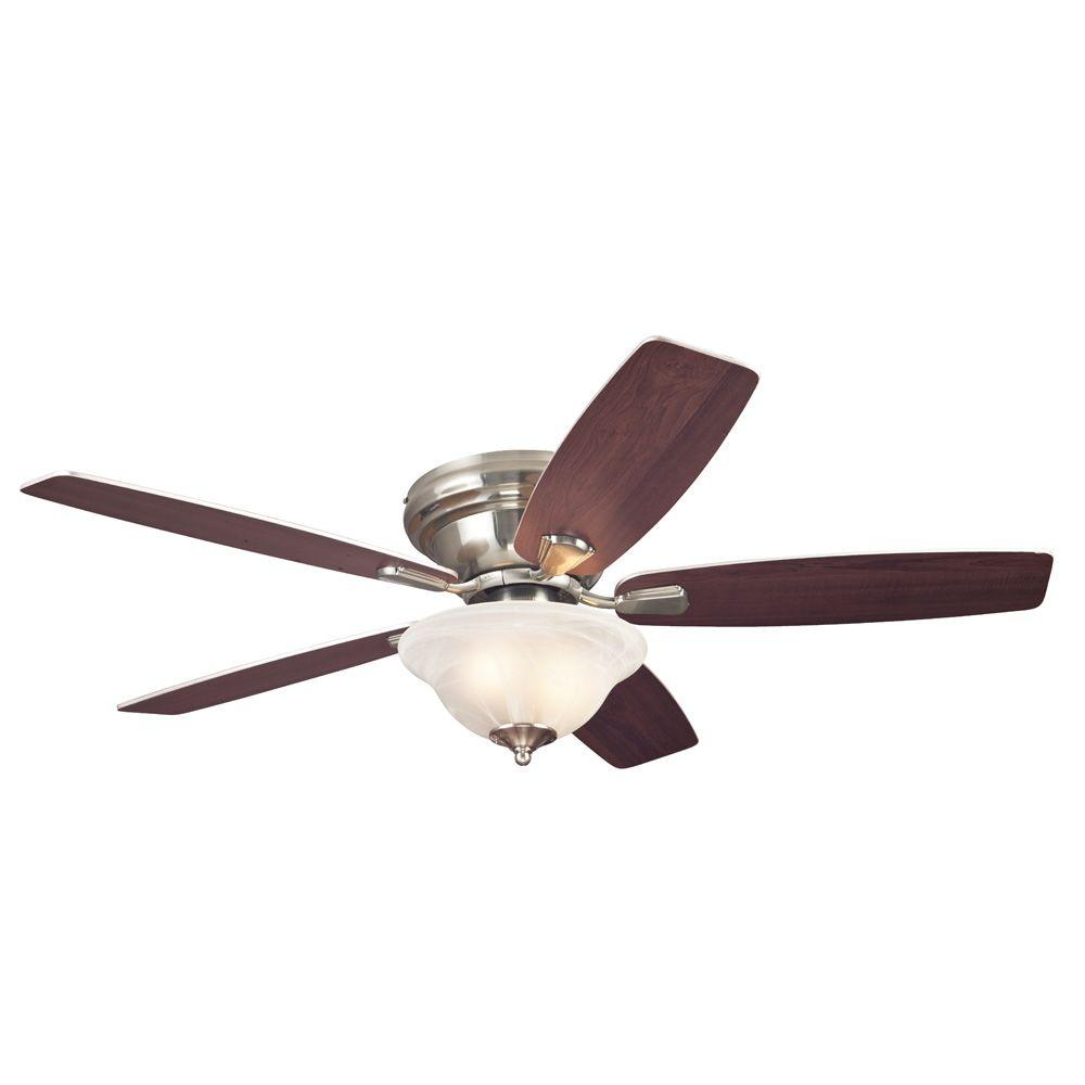 Westinghouse sumter 52 in brushed nickel ceiling fan 7247600 the home depot - Westinghouse and living ...