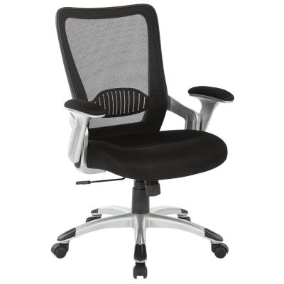 Manager's Chair with Black Screen Back and Mesh Seat