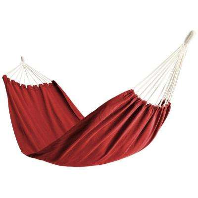 6-1/2 ft. Polyester Bag Hammock in Red
