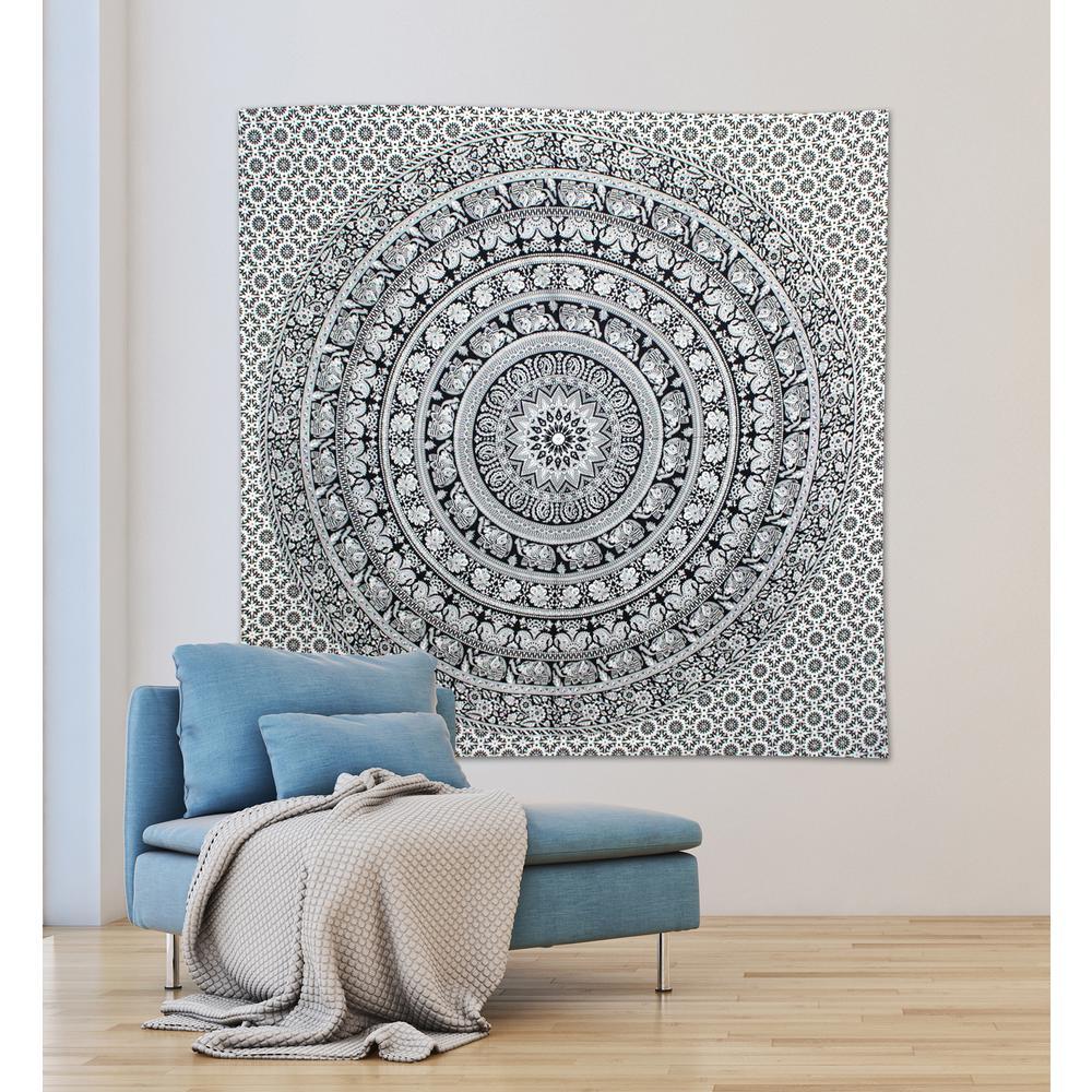 84.64 in. x 92.52 in. Kashvi Wall Tapestry