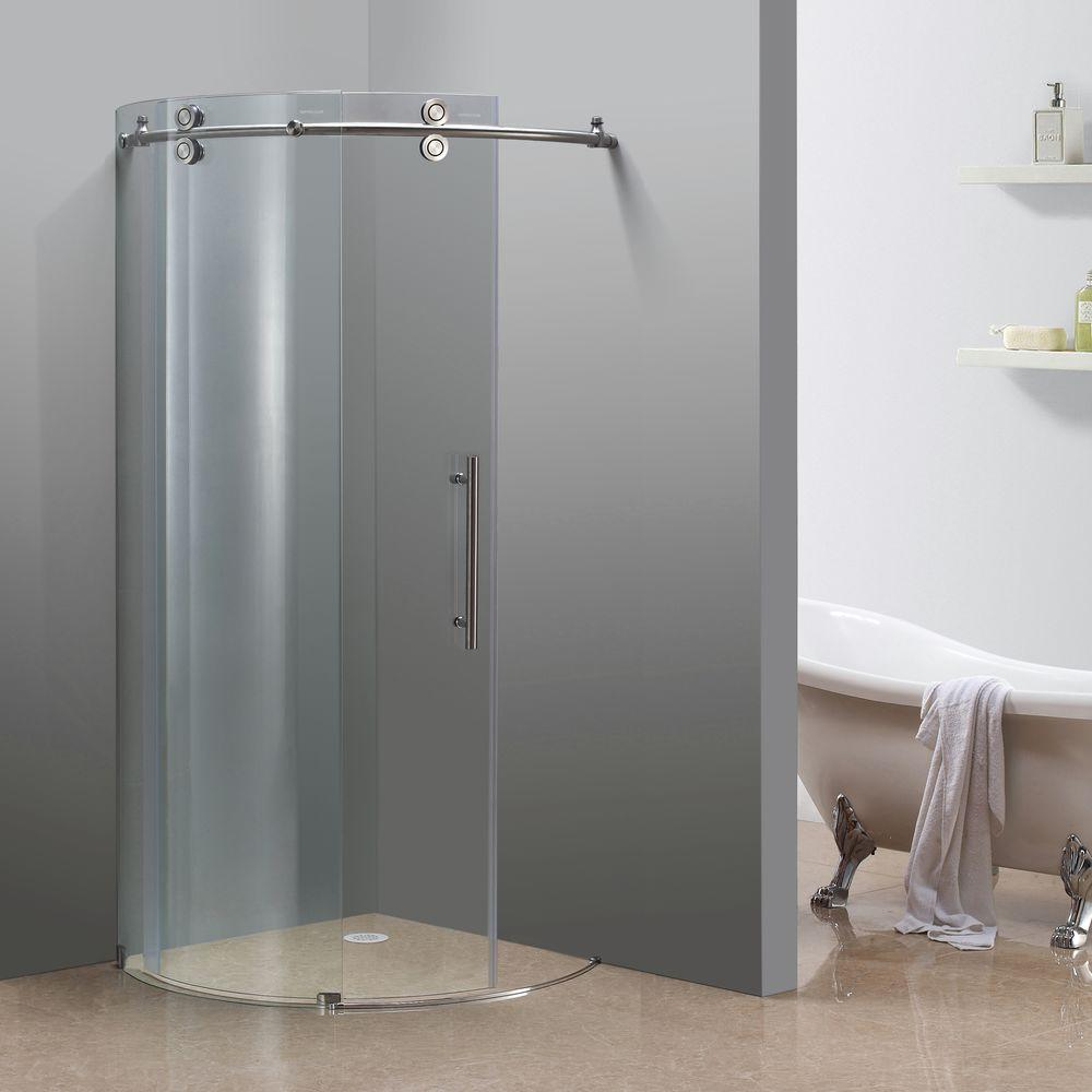 Great Aston Orbitus 36 In. X 36 In. X 75 In. Completely Frameless Round