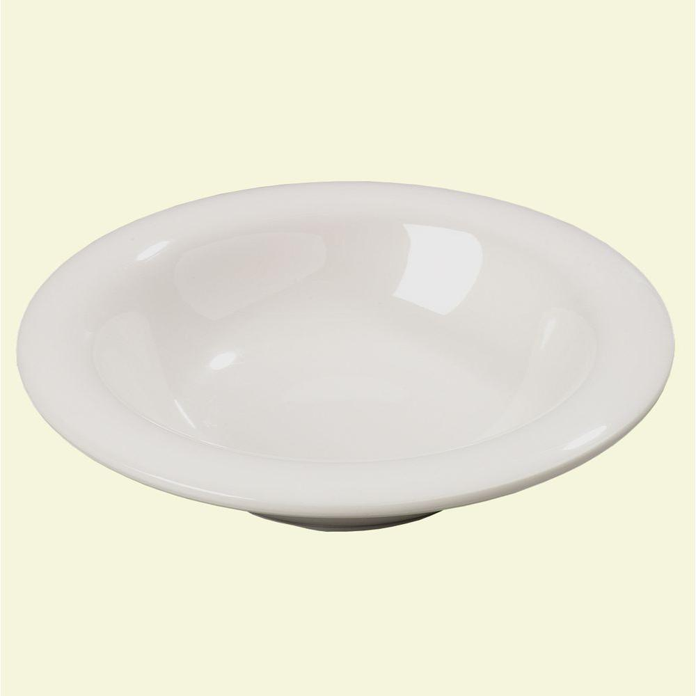 6 oz., 6 in. Diameter Melamine Rimmed Bowl in Bone (Case