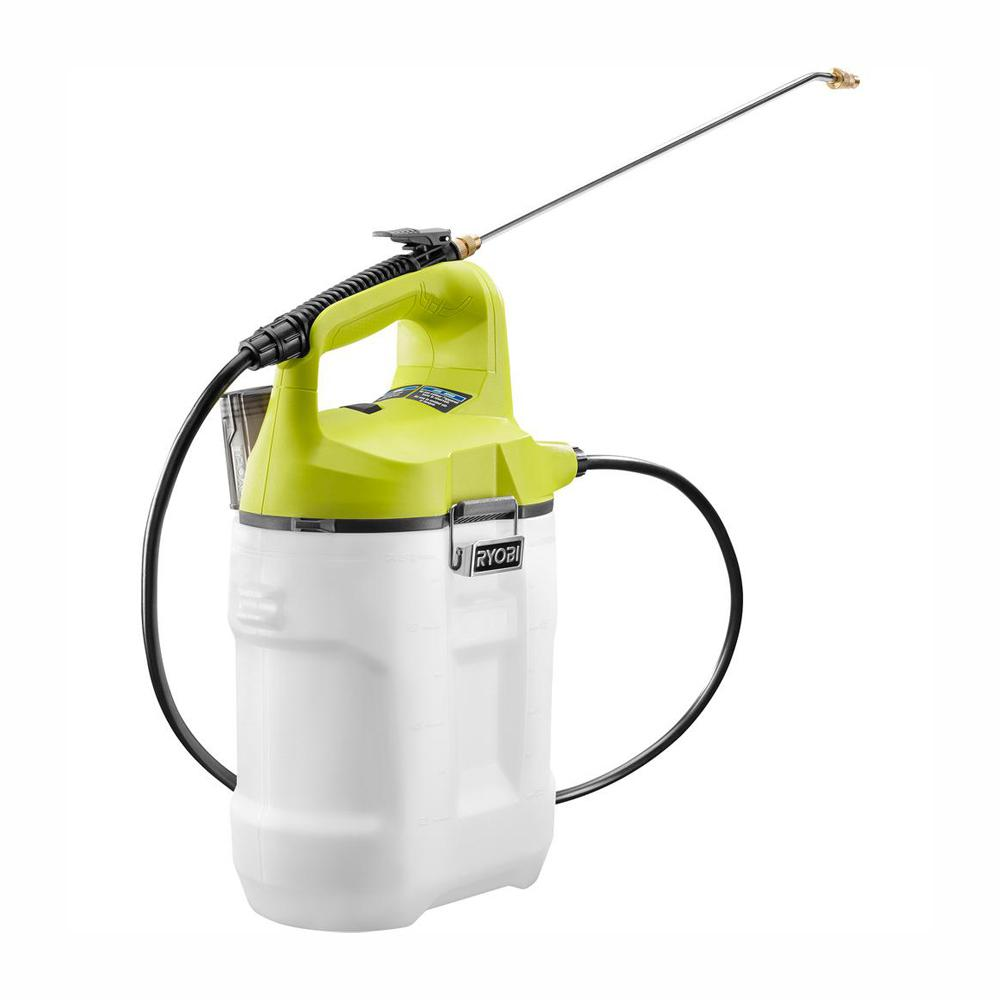 RYOBI ONE+ 18-Volt Lithium-Ion Cordless 2 Gal. Chemical Sprayer - Battery and Charger Not Included