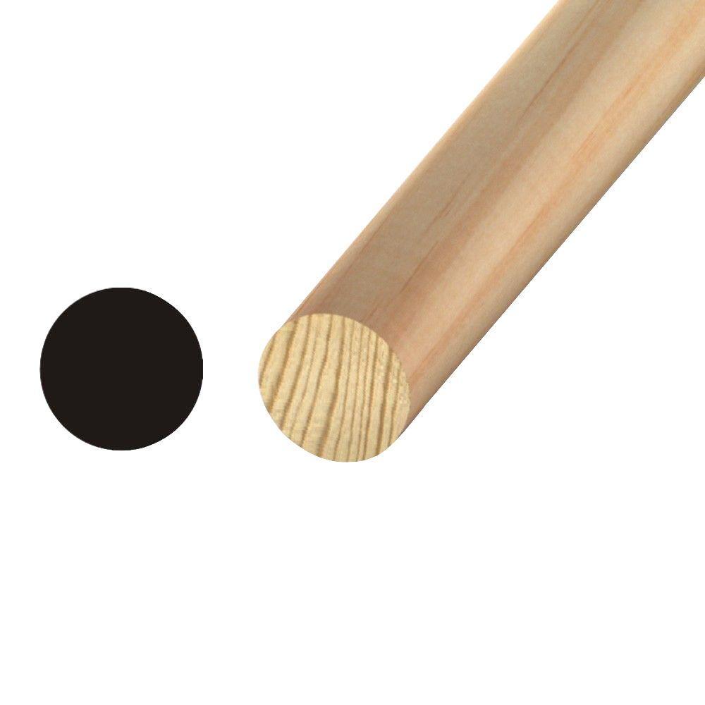 OP 3224 1 in. x 1 in. Pine Full Round Moulding