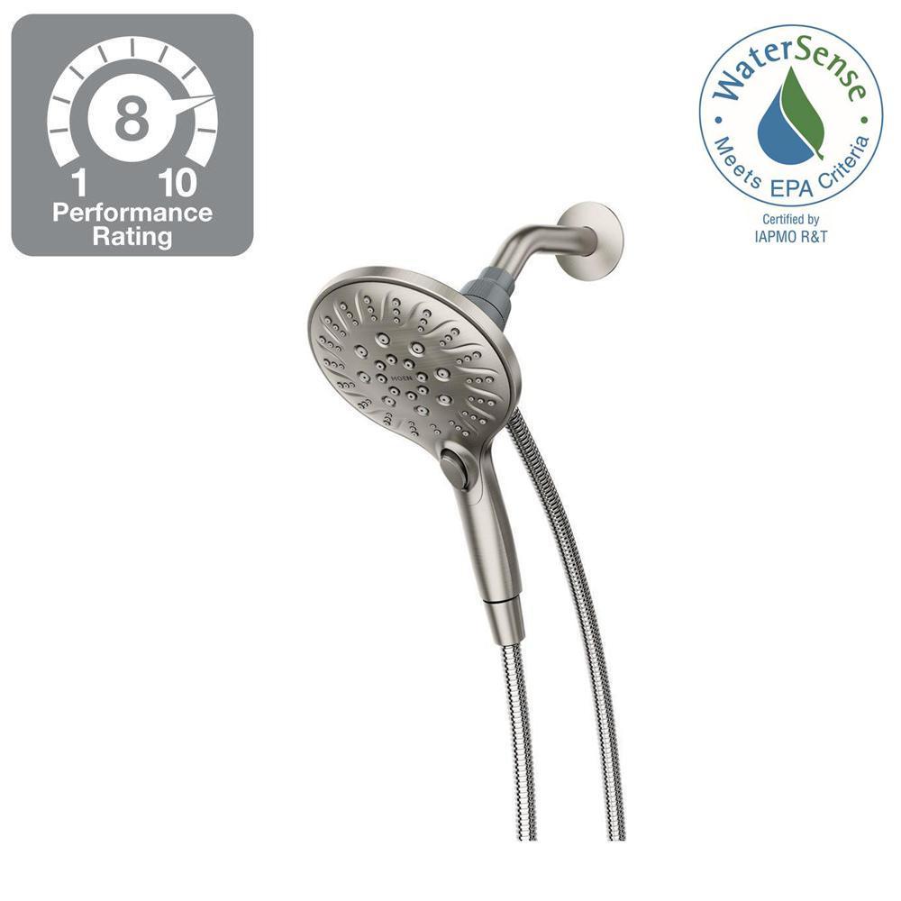 Moen Attract 6-Spray 5.5 inch Hand Shower with Magnetix in Spot Resist Brushed Nickel by MOEN