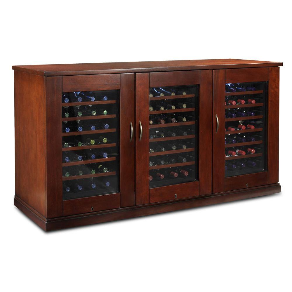 Wine Enthusiast Trilogy Credenza 84-Bottle Wine Cellar