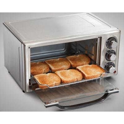 Hamilton Beach-1300 W 6-Slice Stainless Toaster Oven with Broiler and Built-In Timer