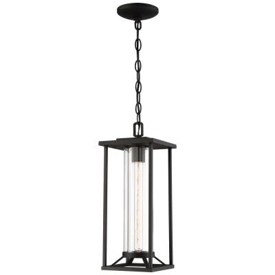 Trescott Black Outdoor 1-Light Hanging Lantern