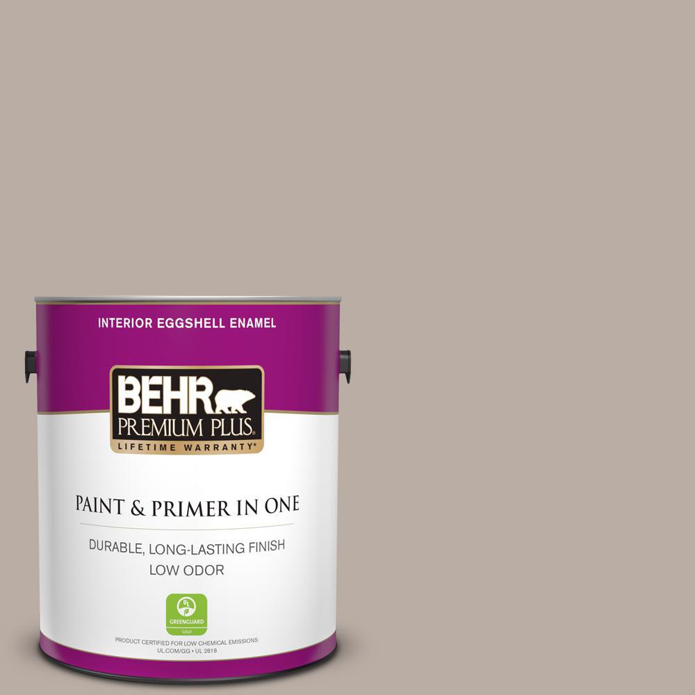 BEHR Premium Plus 1 gal. #N200-3 Nightingale Gray Eggshell Enamel Low Odor Interior Paint and Primer in One