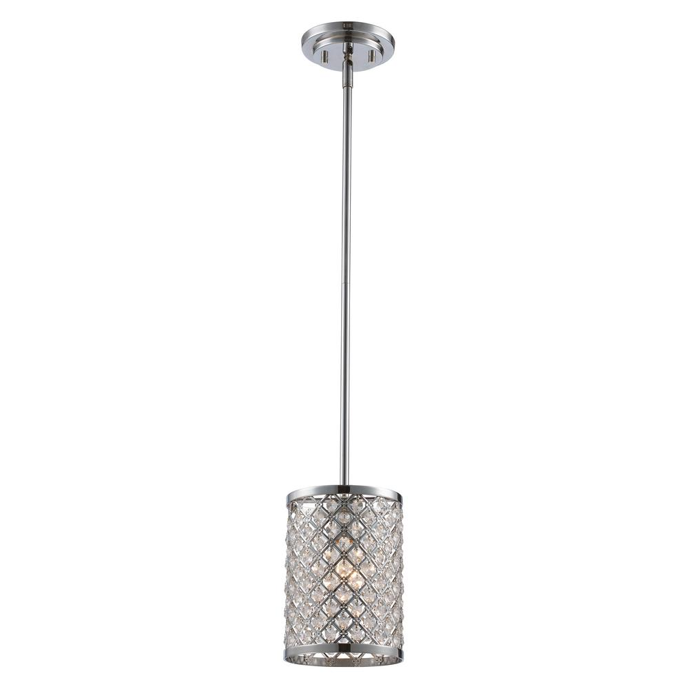 Bel Air Lighting Infusion 1-Light Polished Chrome Pendant