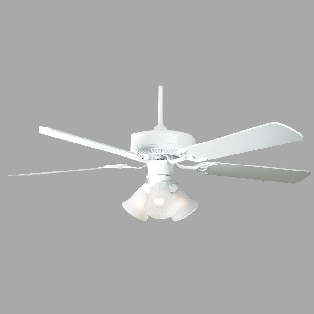 Home Air Series 52 in. Indoor White Ceiling Fan