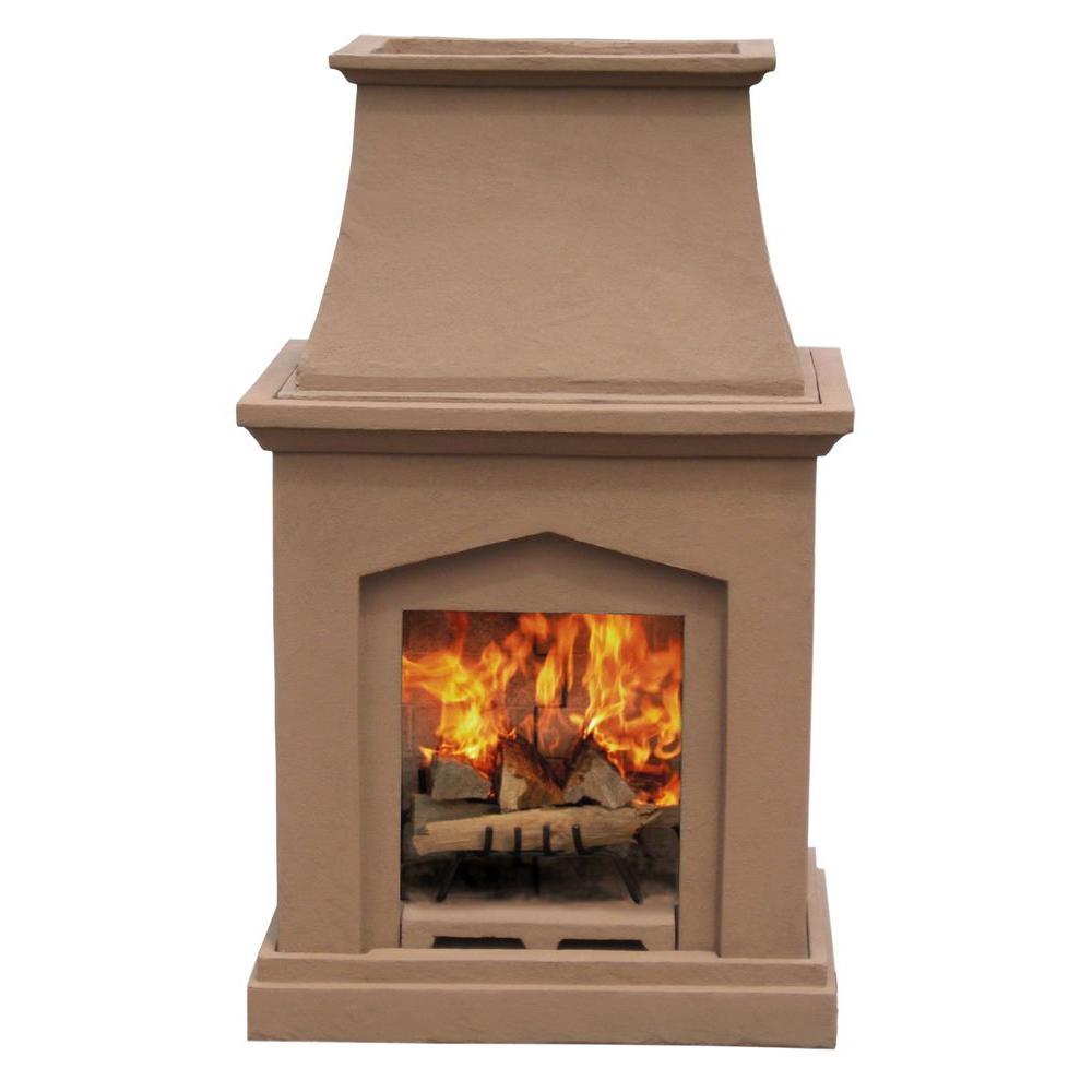 Pacific Living 46 in. Desert Tan Pedestal Outdoor Fireplace