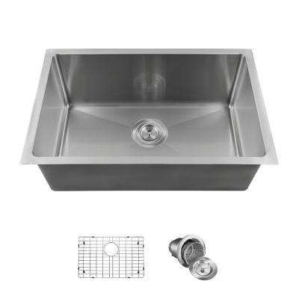 Undermount Stainless Steel 18 in. Single Bowl Kitchen Sink