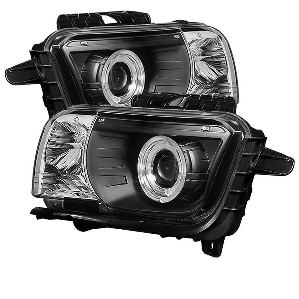 Spyder Auto Chevy Camaro 10-13 Projector Headlights (for halogen models  only) Dual Halo - LED Halo - Black - High/Low H7 (Included)