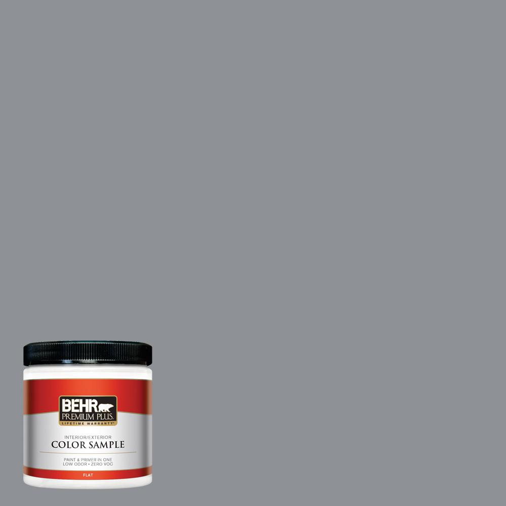 8 oz. #PPU18-04 Dark Pewter Flat Interior/Exterior Paint Sample