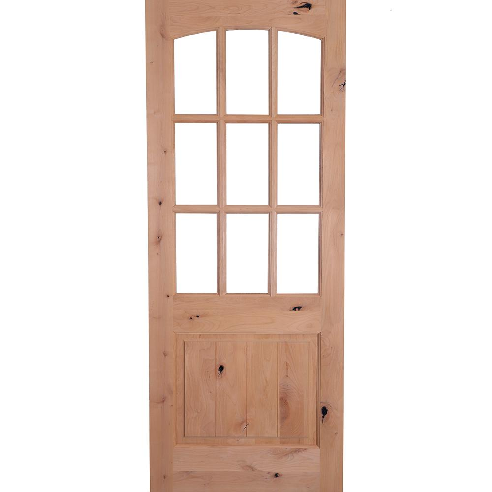 Krosswood Doors 36 In X 80 In Rustic Knotty Alder Arch