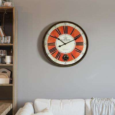 Grand Crown Black & Red Oversized Wall Clock
