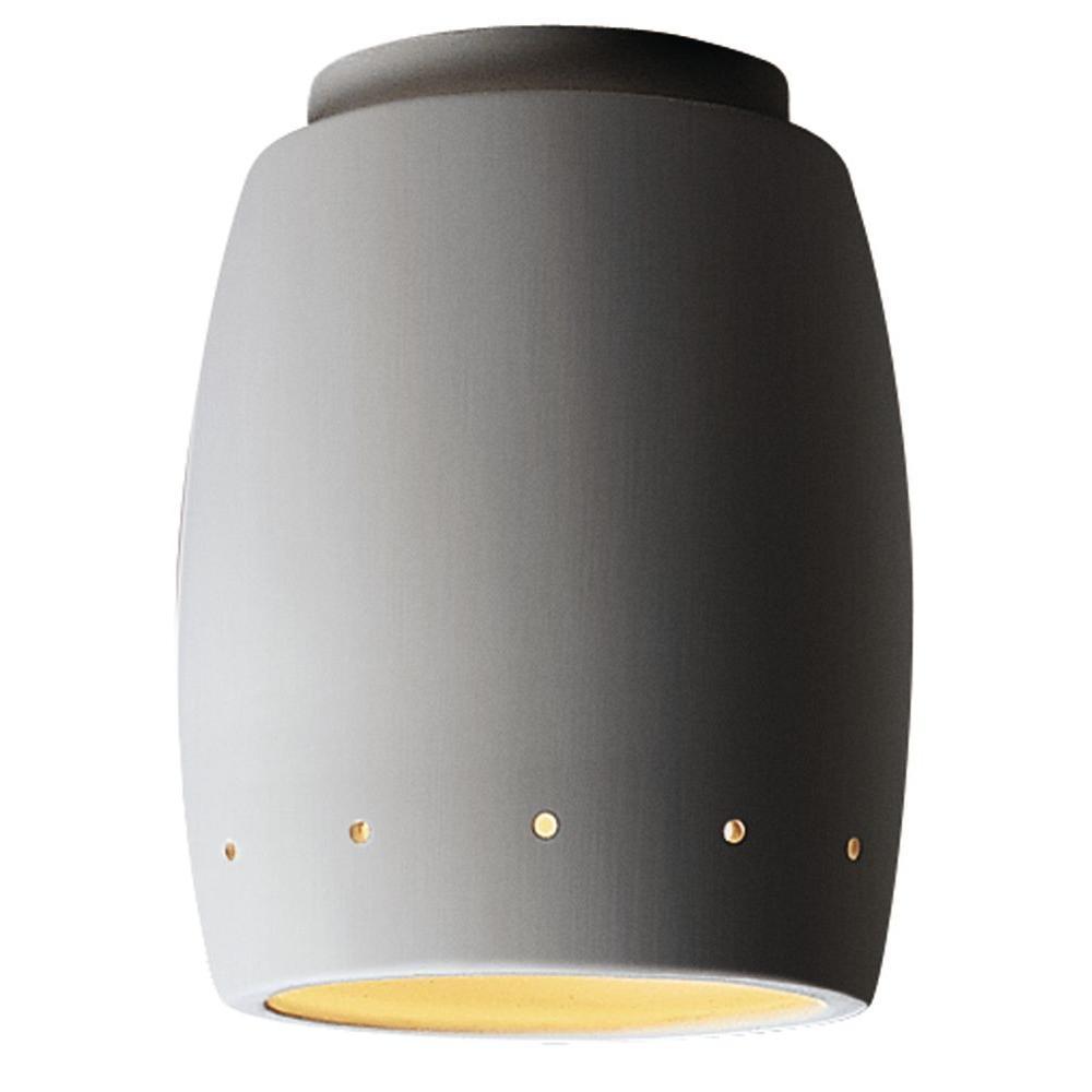 Leonidas 1-Light Paintable Ceramic Bisque Ceiling Flushmount