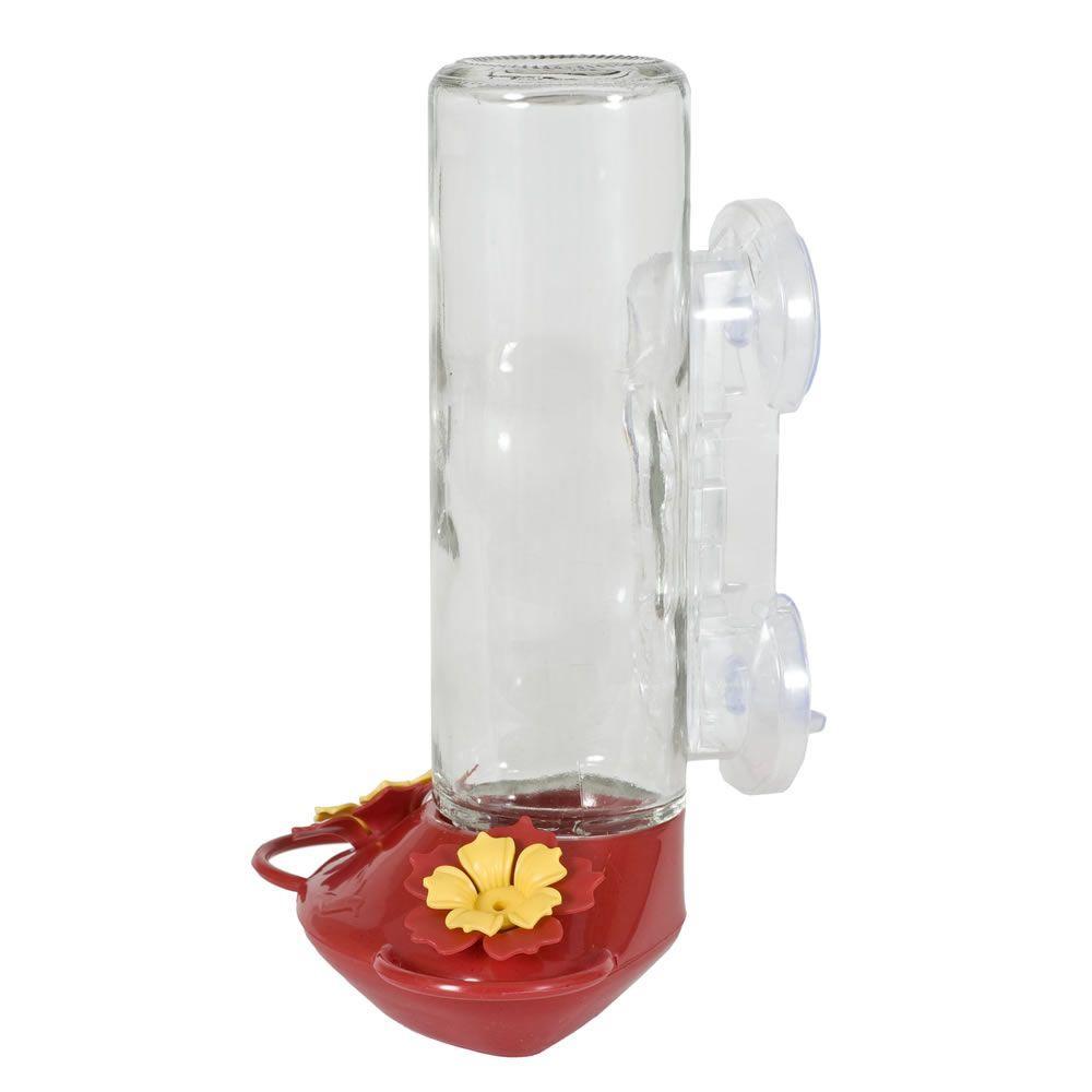 14 oz. Hummingbird Glass Window Feeder