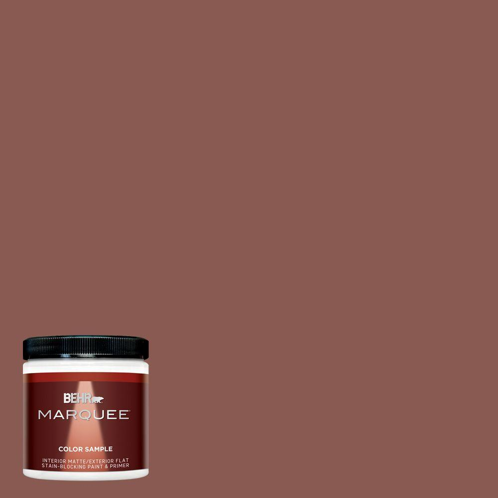 8 oz. #MQ1-20 Rust Matte Interior/Exterior Paint and Primer in One