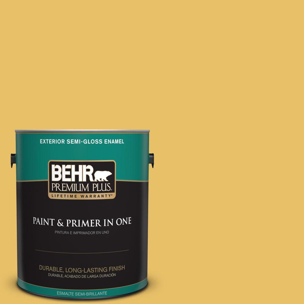 1-gal. #360D-5 Golden Chalice Semi-Gloss Enamel Exterior Paint