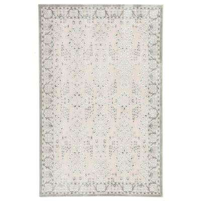 Preece Power Loomed Gray/Cream 5 ft. x 7 ft. 6 in. Oriental Area Rug