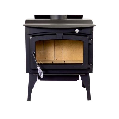 Medium 1,800 sq. ft. 2020 EPA Certified Wood Burning Stove with Legs and Blower