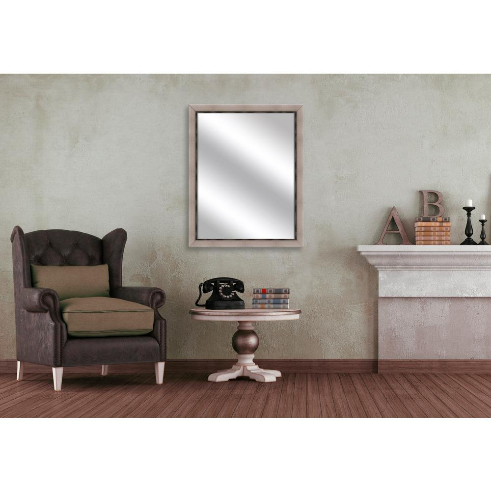 24.75 in. x 30.75 in. Champagne Framed Mirror