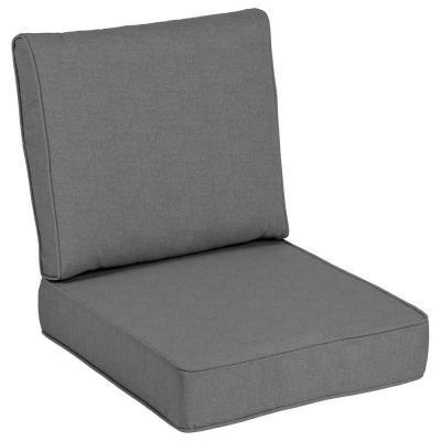 24 x 24 Sunbrella Cast Slate Outdoor Lounge Chair Cushion